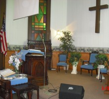 Pulpit area of our church